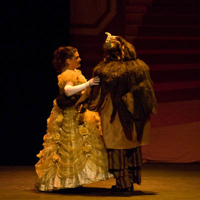 Lianne Perry and Ron Parlee as Belle and the Beast