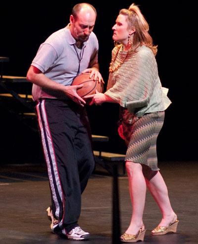 Coach (Aaron McCallum) & Drama Teacher (Chantelle Lomness)