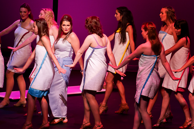 Amneris (Lianne Perry) and cast